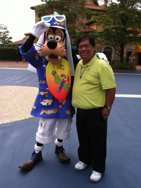 Me and Goofy together at Tokyo Disney Seas!