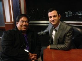Meeting Jimmy Kimmel and sitting on his set!