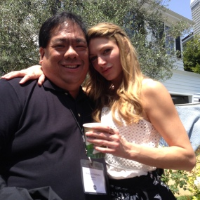 Had the opportunity to meet Jes Macallan on the set of Mistresses