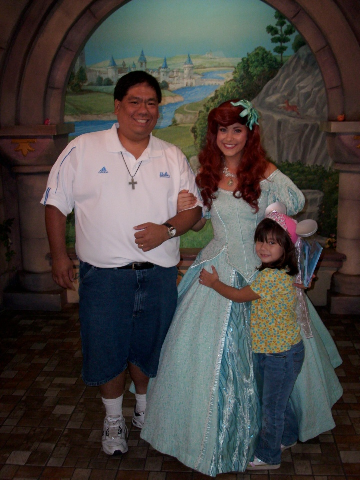Having a Daddy / Daughter Day at Disneyland with our friend Ariel.  Spent about 45 minutes in line for a photo op - but it was worth twice the time!