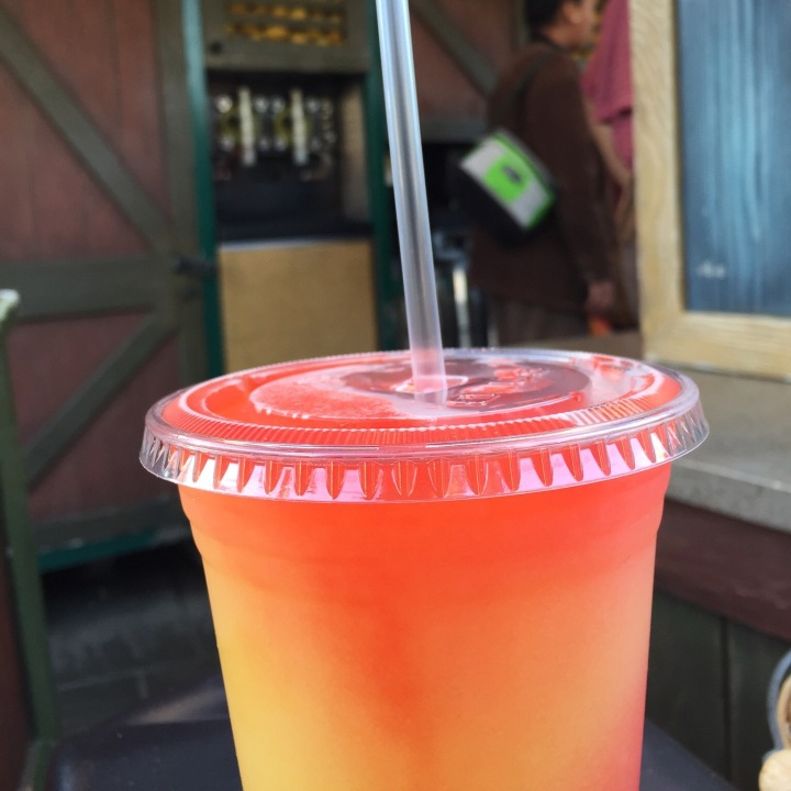 The frozen lemonade from Frontierland - a wonderfully sweet drink