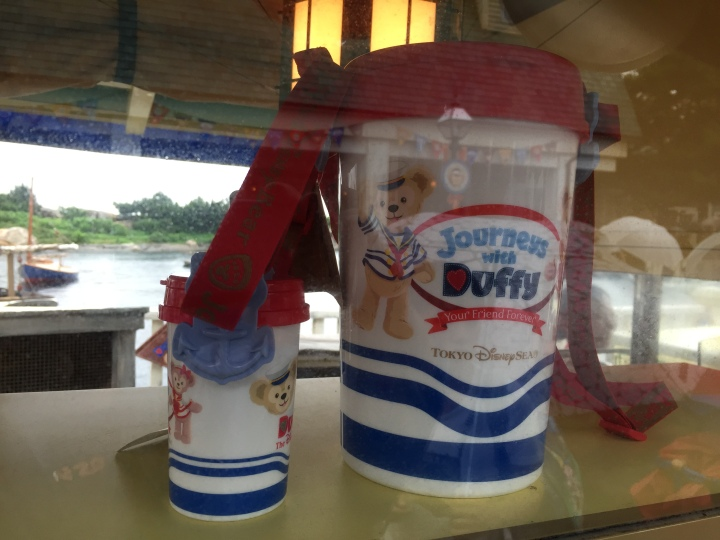 One of MANY specialty popcorn buckets available. This one is dedicated to Duffy the Bear