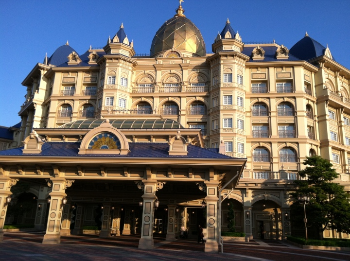 The front of the Tokyo Disneyland Hotel - which ironically I almost never got to see since I entered most often through the back.