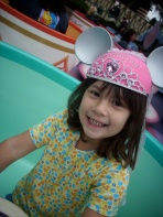 My little sweetie at 5 years old. Daddy can't ride teacups anymore!