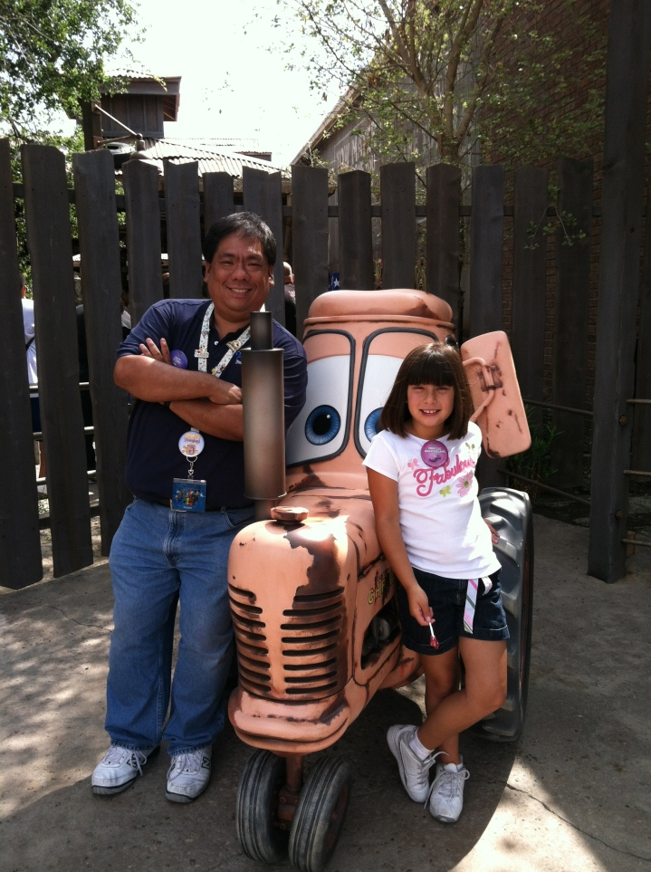 Me and Emma at Cars Land