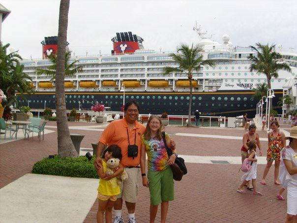 Getting ready to go back on board after a day in Nassau.