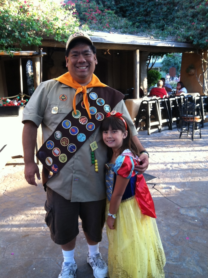 Me as Russell from UP and Emma as Snow White