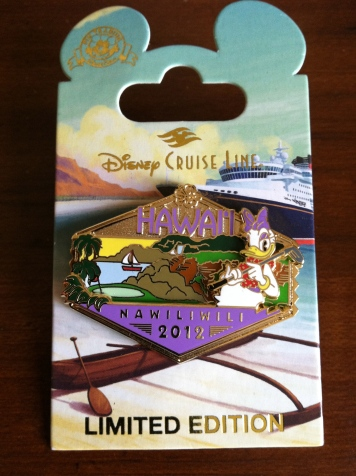 Special Limited Edition pins specific to your itinerary - this one from Hawaii