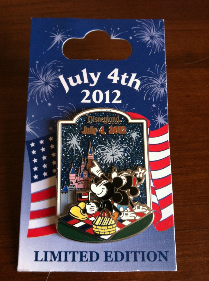 Special limited edition pins from Disneyland