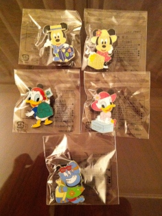 "Some of the ""consolation"" prize pins from Abu's Bazaar"