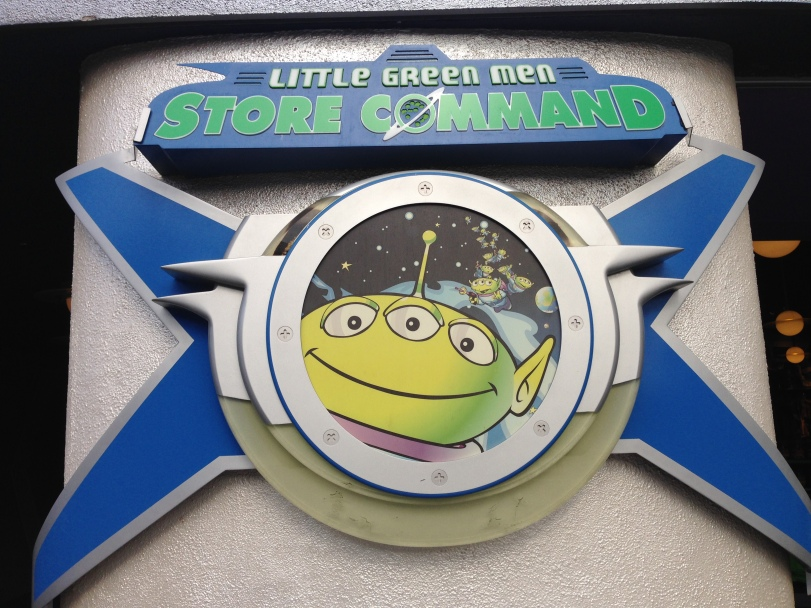 Front of the Little Green Men Store in Disneyland