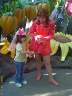 Rosetta signing Emma's autograph book
