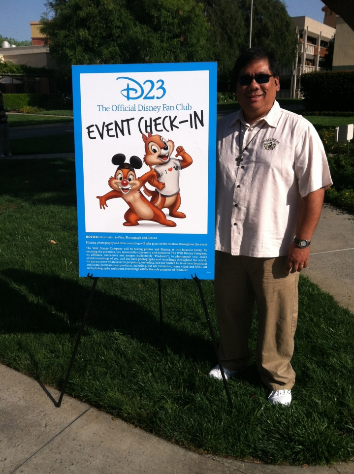 Checking in at the D23 Walt Disney Studio Tour
