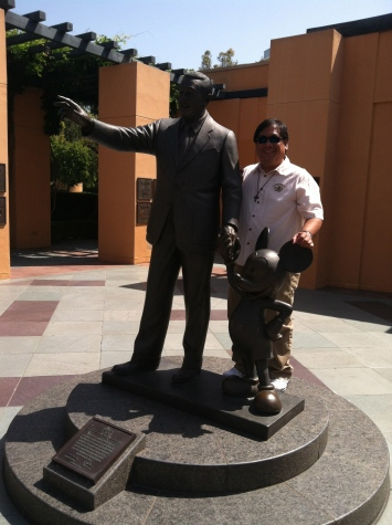 Legends plaza with Walt as a highlight