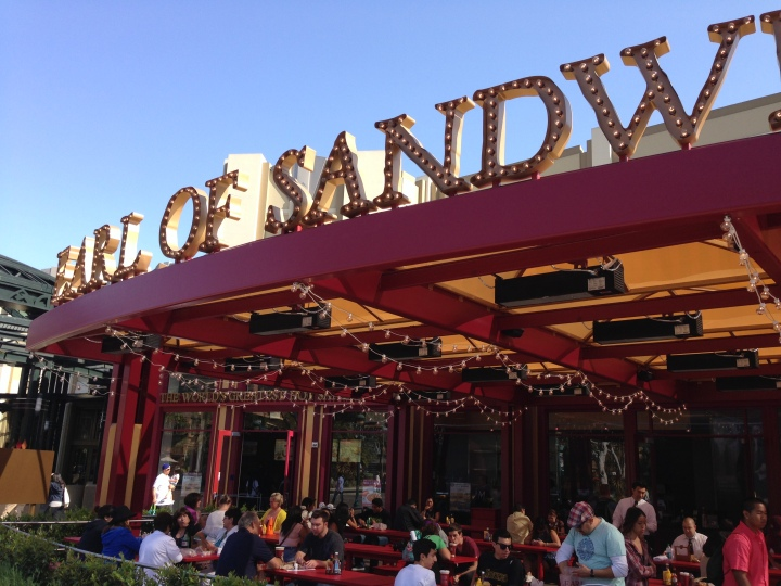 The yummy and reasonably priced Earl of Sandwich at Disneyland Resort