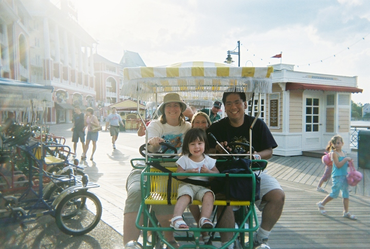 Family picture on the Boardwalk at WDW back in 2006