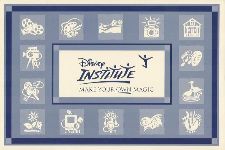 The original Disney Institute logo and logos for the different fields they offered classes in