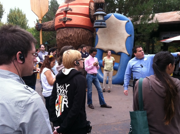 Our group learning about Grizzly River Rapids