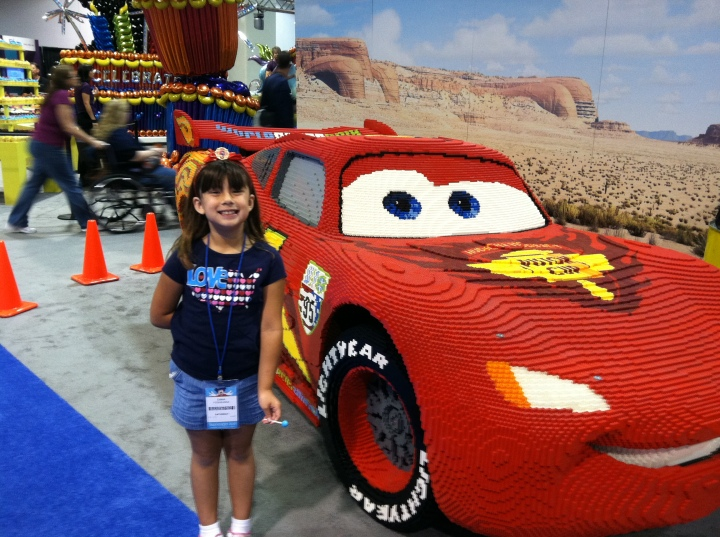 Lightning McQueen made completely of LEGOs.  Quite awesome.