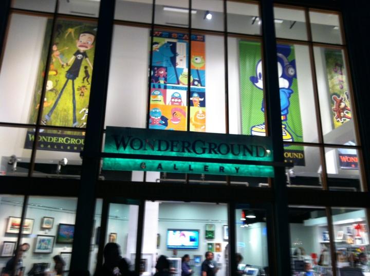 Wonderground Gallery at Downtown Disney Anaheim at night