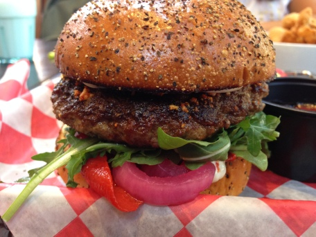 The yummy lamb burger