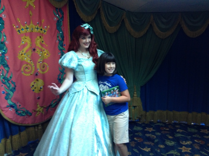 What would Ariel's Grotto be without time with the main princess herself?
