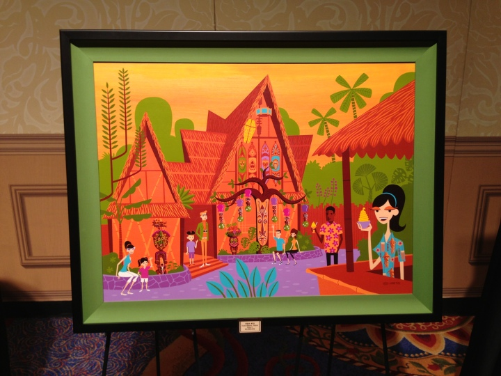 One of the SHAG paintings representing the Tiki Room available as a print and glicee.