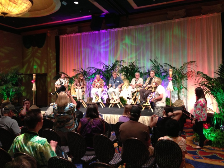The panel discussion at the Tiki Room celebration