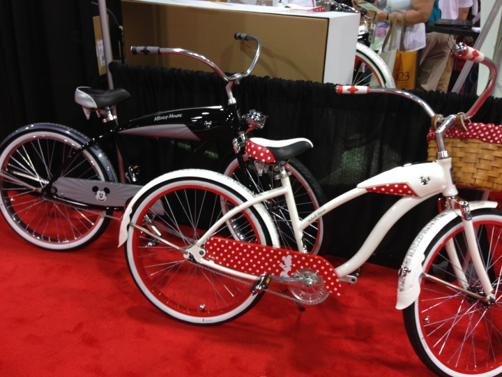 Matching Mickey and Minnie beach cruisers by Huffy Bicycles