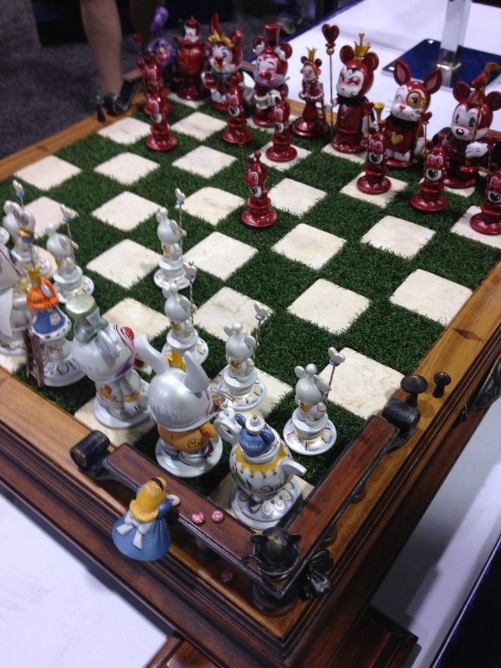 Beautiful Disney chess set at the Dream Store.