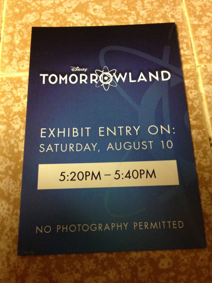 The Tomorrowland Exhibit Fastpass