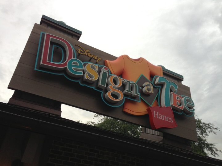 Design-A-Tee shop at Downtown Disney Marketplace