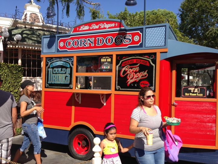 The Little Red Wagon on Main Street - corn dog specialists