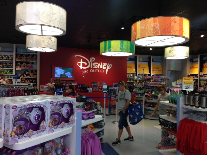 The Disney Outlet store has the familiar Disney Store feel