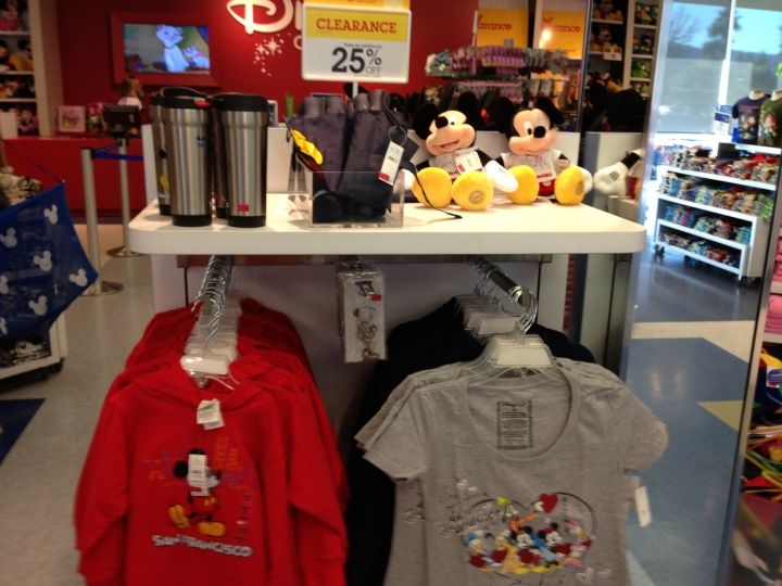 San Francisco specific Disney Store merchandise at a discount