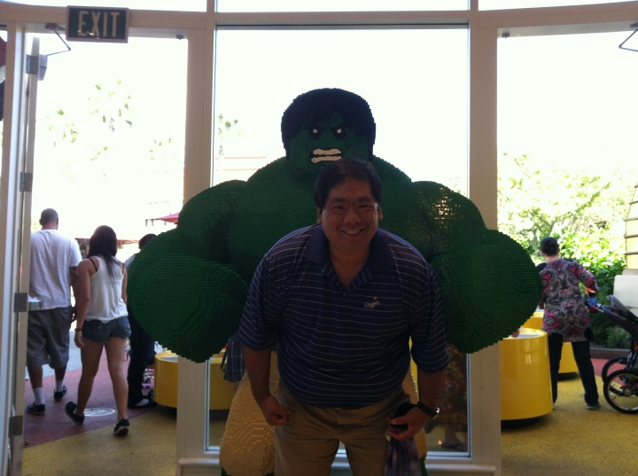 Me and the Hulk at the LEGO Imagination Center in Anaheim