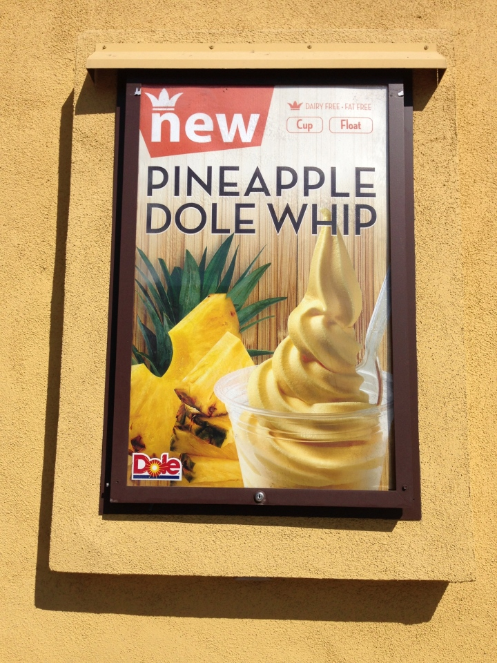 The famous Dole Whip now found outside of Disneyland