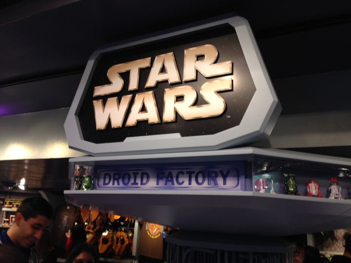 The Star Wars Droid Factory in the back of the main section of Star Traders