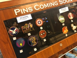 Upcoming pin board at DSSH (Disney Studio Store Hollywood)