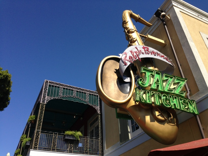 Iconic saxophone outside Ralph Brennan's Jazz Kitchen