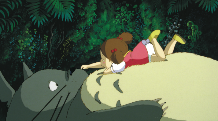 Mei and Totoro enjoying a moment together.