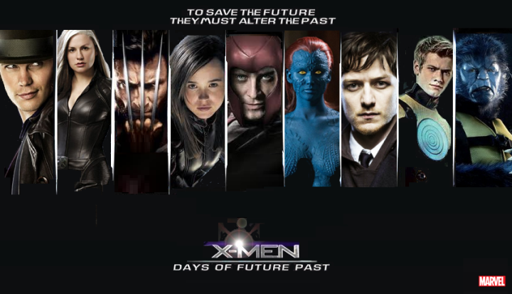 Poster for Days of Future Past the movie coming in 2014