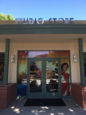 The entrance to the Studio Store has that classic look carried throughout the campus