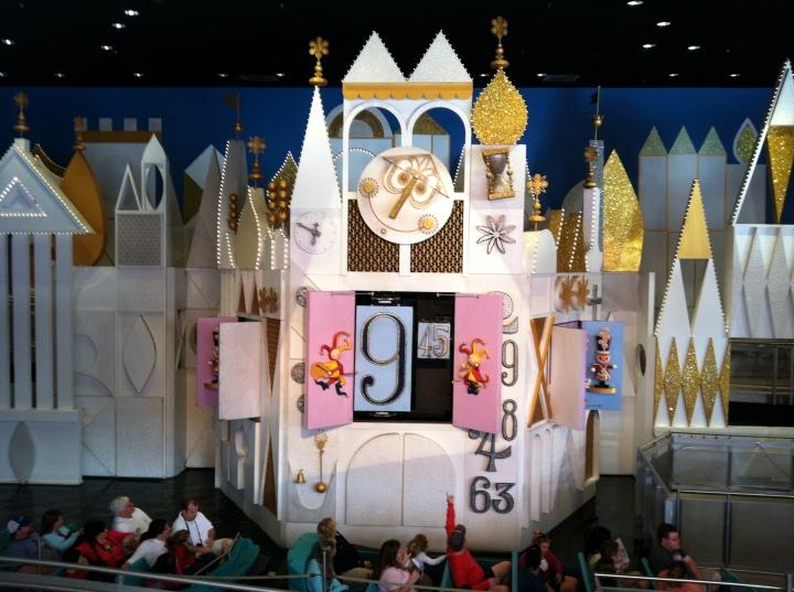 The Walt Disney World facade inside the building