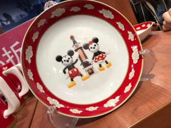 Exclusive Disney plates from Shanghai Disney Store - the largest in the world
