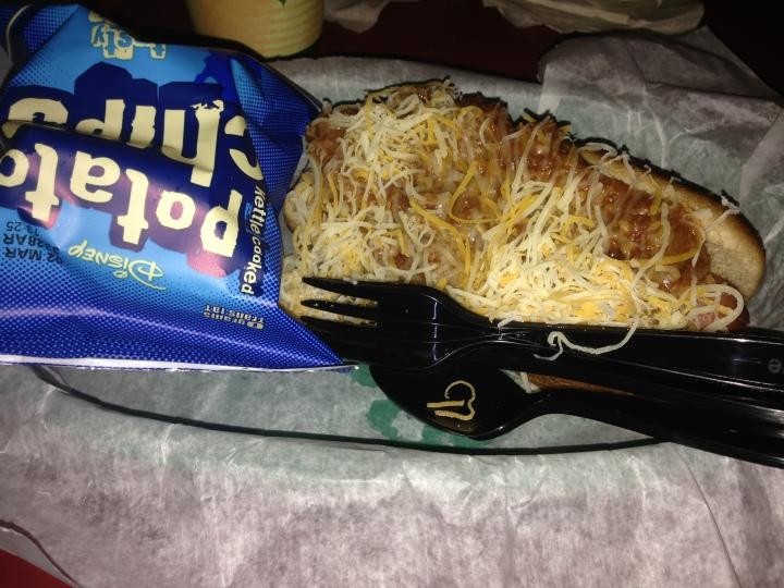 Chili dog basket - yummy!