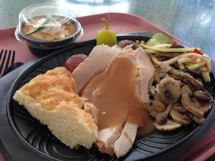 The turkey plate with sides