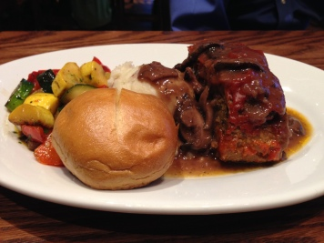 The hearty meatloaf plate