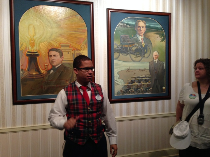 Our tour guide Josiah in Great Moments with Mr. Lincoln
