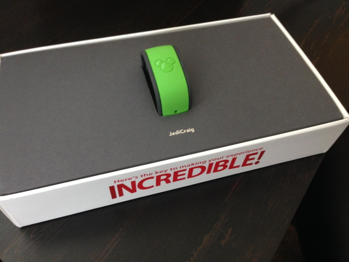 Custom colors and personalization, not only on the Magic Band but in the box, too.